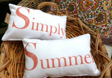 17 Fresh-looking Handmade Summer Pillow Designs - tree, throw, summer, star, pillows, pillowcase, Pillow, palm, linen, handmade, floral, diy, design, cushion, cover, cotton, case, burlap, beach