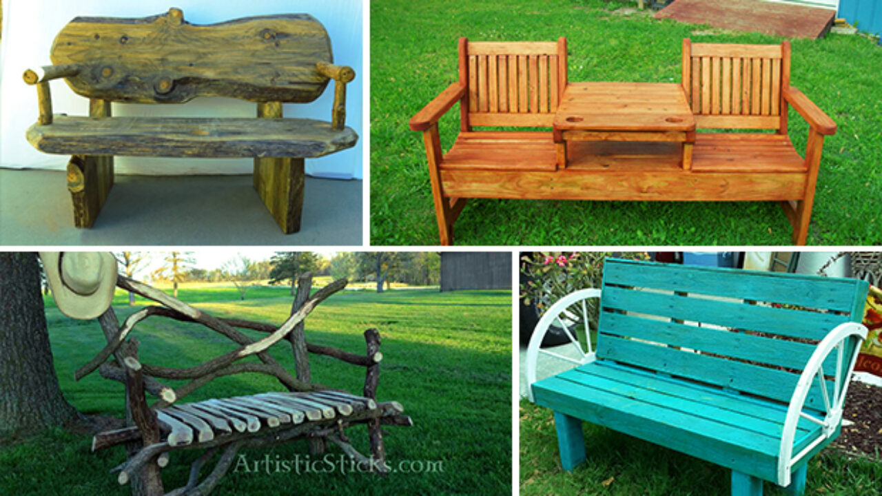 Picture of: 21 Amazing Outdoor Bench Ideas