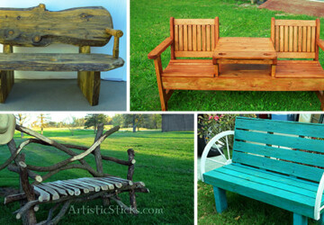 21 Amazing Outdoor Bench Ideas - wood, vintage, tailgate, steel, rustic, restored, repurposed, recycled, pallet, outdoor, oak, industrial, handmade, handcrafted, garden, furniture, diy, decorative, cedar, bench, beam, backyard
