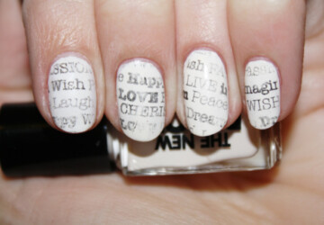 18 Black&White DIY Ideas For Your Nails - diy nails, DIY Ideas For Your Nails, diy, Black & White Nails, Black & White DIY Ideas For Your Nails