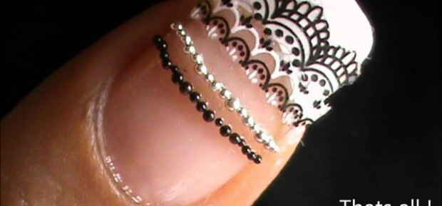 18 Black&White DIY Ideas For Your Nails