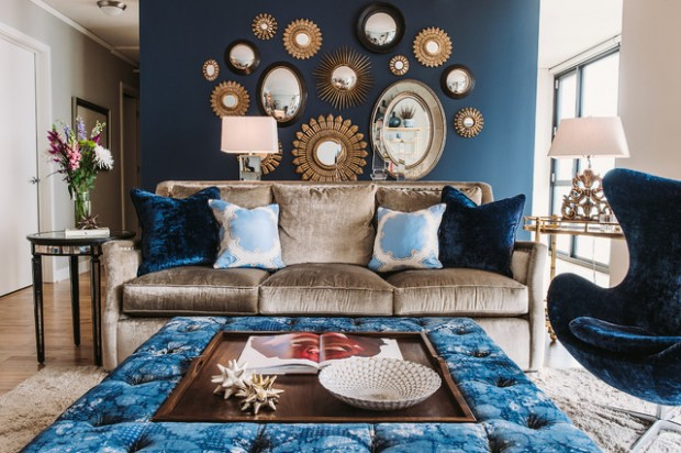 17 Beautiful Living Room Decorating Ideas with Wall Mirrors Style