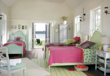 18 Adorable Kids Bedroom Designed in Beach Style - kids bedroom, beach style kids bedroom, beach style interior, beach style design, beach style bedroom