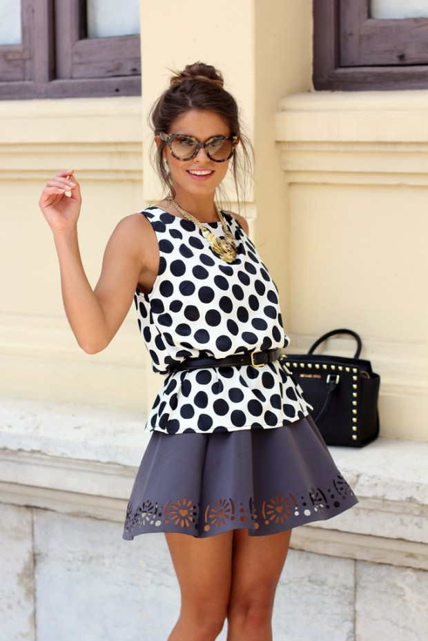 23 Polka Dots Combinations In Summer Style