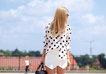 23 Polka Dots Combinations In Summer Style - woman combinations, Summer Style, Polka Dots Combinations In Summer Style, Polka Dots Combinations, outfit