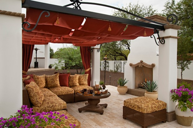 Wicker Patio Furniture Ideas for Perfect Outdoor Summer Decor (11)