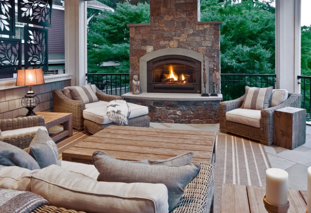 Wicker Patio Furniture Ideas for Perfect Outdoor Summer Decor (14)