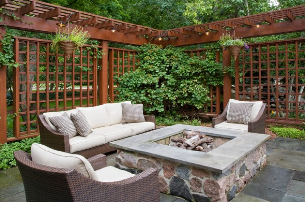 Wicker Patio Furniture Ideas for Perfect Outdoor Summer Decor (19)