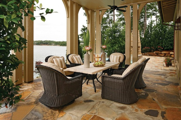 Wicker Patio Furniture Ideas for Perfect Outdoor Summer Decor (20)