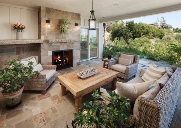 Wicker Patio Furniture Ideas for Perfect Outdoor Summer Decor (22)