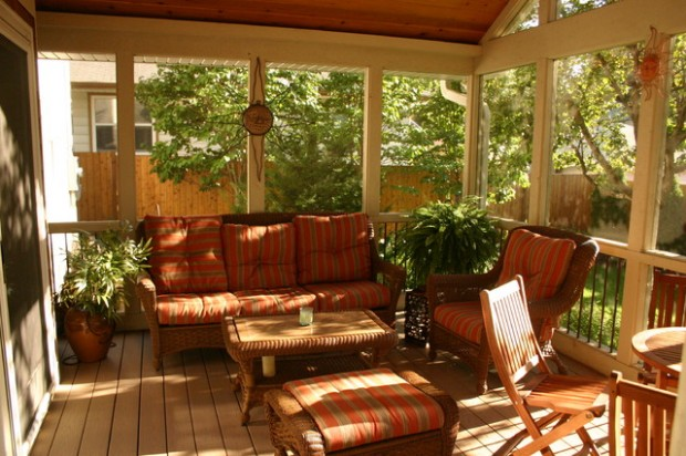 25 wicker patio furniture ideas for perfect outdoor summer decor style motivation - Screened porch furniture ideas ...