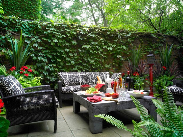 Wicker Patio Furniture Ideas for Perfect Outdoor Summer Decor (4)
