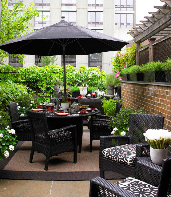 Wicker Patio Furniture Ideas for Perfect Outdoor Summer Decor (5)