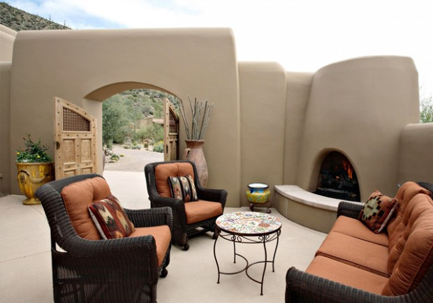 Wicker Patio Furniture Ideas for Perfect Outdoor Summer Decor (9)