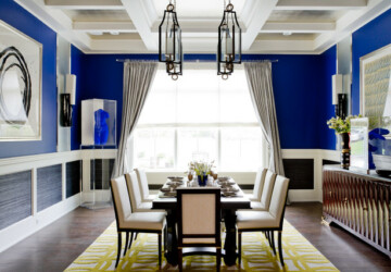 18 Elegant Interior Design Ideas with Blue Walls - interior design, blue wall, blue interior