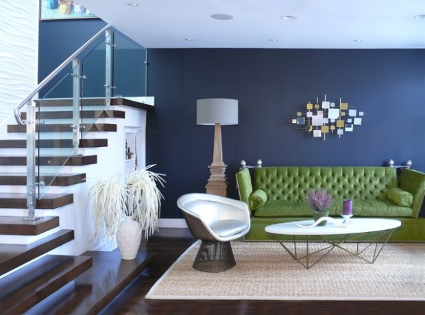18 Elegant Interior Design Ideas with Blue Walls