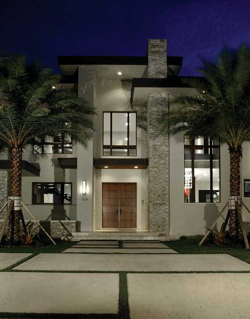 18 amazing contemporary home exterior design ideas style for Exterior stone design houses