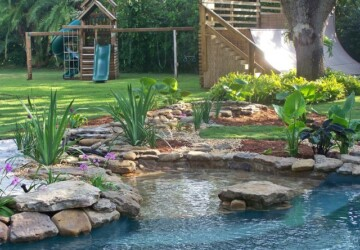 17 Incredible Natural Pool Ideas Perfect for Your Backyard    - Poolside, pool design, pool, natural swimming pool, beach entry pool, backyard design