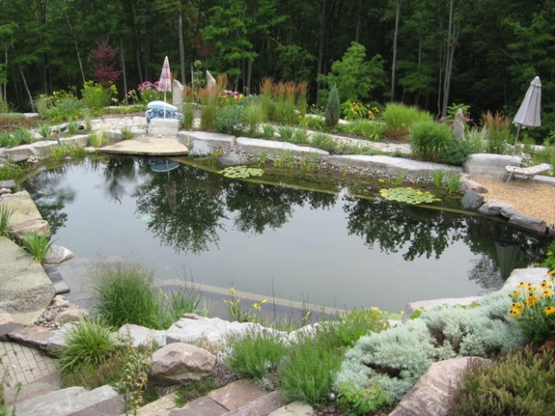 17 incredible natural pool ideas perfect for your backyard for Garden pond design
