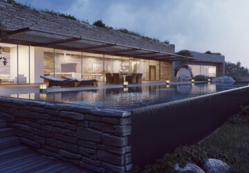 Terra Porra Villas by Gottesman-Szmelcman Architecture - visualisation, villa, luxury, Corsica, architecture