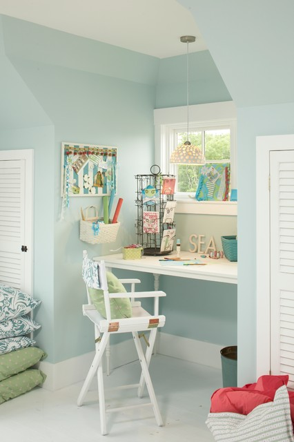 18 Lovely Beach Inspired Ideas for Your Home Office Design