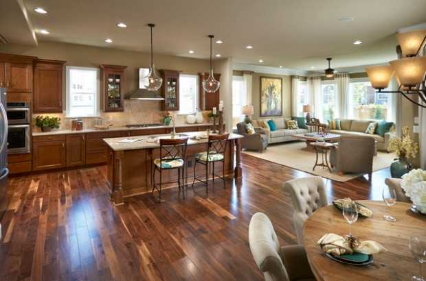 Nice 17 Open Concept Kitchen Living Room Design Ideas