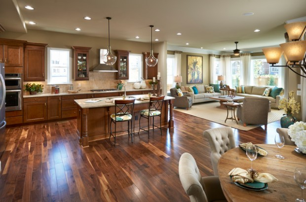 Captivating 17 Open Concept Kitchen Living Room Design Ideas Part 3