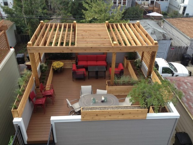 14 Amazing Rooftop Pergola Design Ideas - Style Motivation