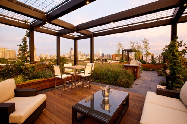 14 Amazing Rooftop Pergola Design Ideas - 14 Amazing Rooftop Pergola Design Ideas - Style Motivation