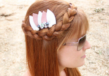 20 Amazing DIY Hair Accessories that are Totally Cool for Summer - diy summer accessories, diy hair accesories, diy fashion projects, DIY Fashion, diy accessories