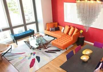 20 Creative Ideas how to Decorate your Interior with Orange Details - orange interior, orange home decor, orange details, orange, Home Decorating