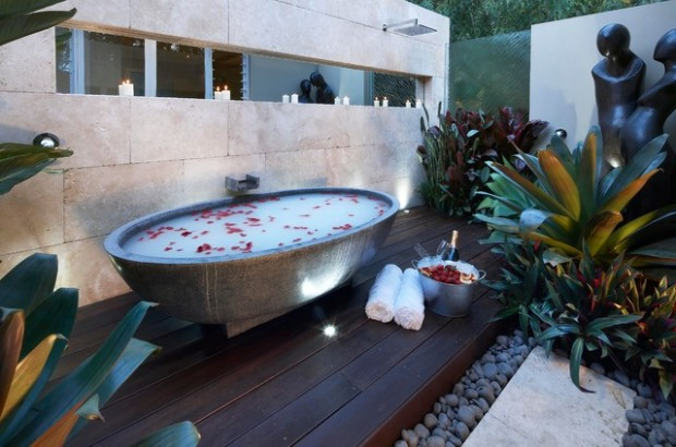 20 landscaping outdoor spa design ideas you must see - Spa Design Ideas