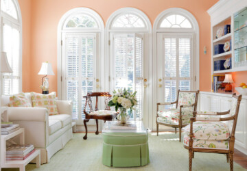 Soft Peach Color Walls for Sophisticated Interior Look - wall color, wall, Sophisticated interior look, peach color wall, peach color