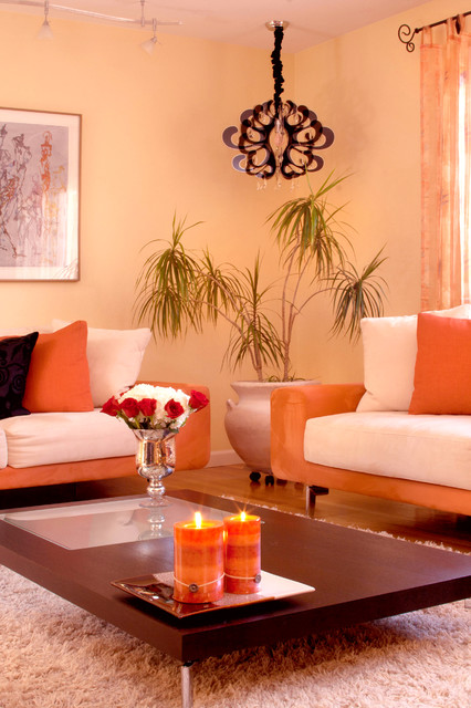 soft peach color walls for sophisticated interior look style