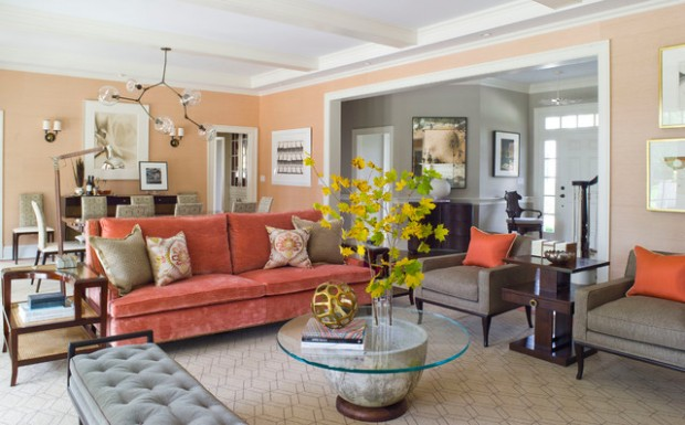 Soft Peach Color Walls For Sophisticated Interior Look