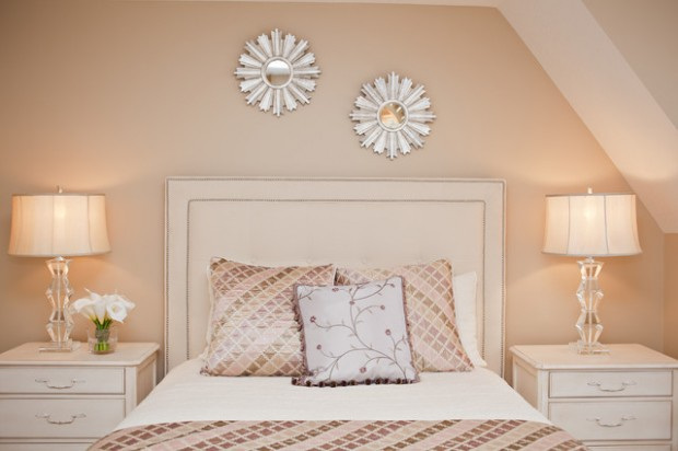 Bedroom Ideas Peach soft peach color walls for sophisticated interior look - style