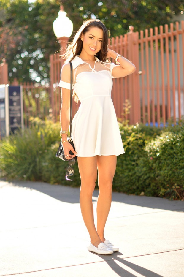 Adorable Outfit Ideas With White Dress