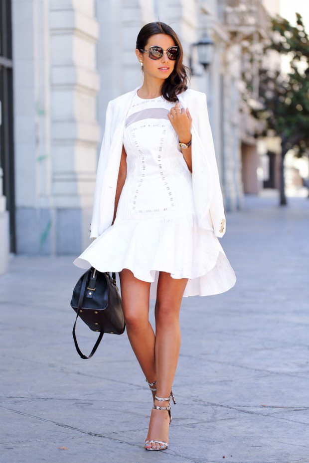 16 Adorable Outfit Ideas with White Dress for Fresh Summer Look