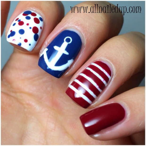 Nautical Nails: 16 Cute Nail Art Ideas