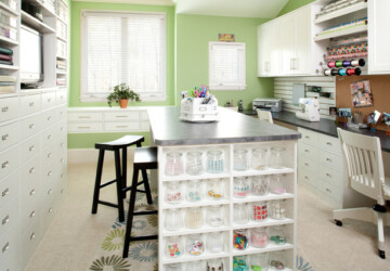 15 Creative Ideas How to Organize Your Craft Room - organization ideas, Organization, craft room design, craft room, craft organization