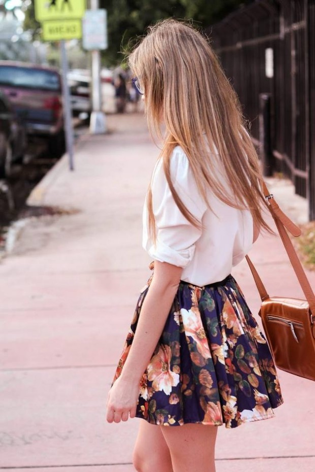Create Cheerful Outfit with Floral Skirt   17 Inspiring Ideas