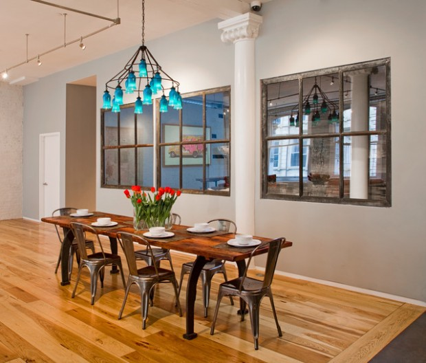 17 Great Dining Room Design Ideas for a Warm Industrial Look - Style Motivation