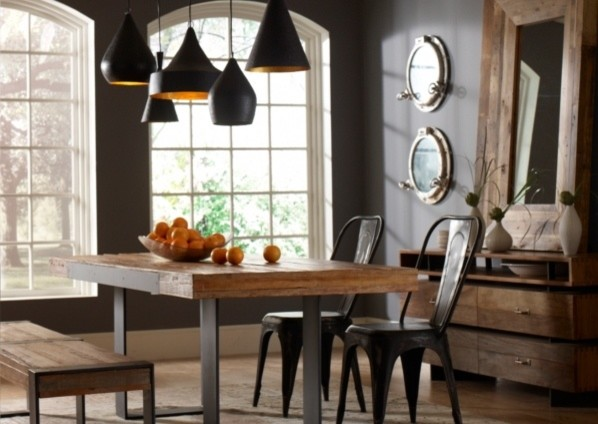30 Ways To Create A Trendy Industrial Dining Room: 17 Great Dining Room Design Ideas For A Warm Industrial