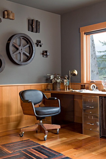 20 Industrial Home Office Design Ideas for Simple and ...