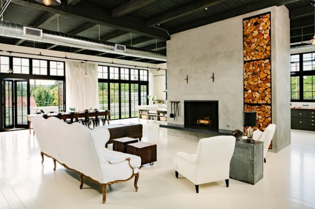 19 urban living room design ideas in industrial style - style