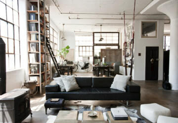 19 Urban Living Room Design Ideas in Industrial Style - urban interiors, living room design ideas, Living room, industrial style interior, industrial living room, industrial