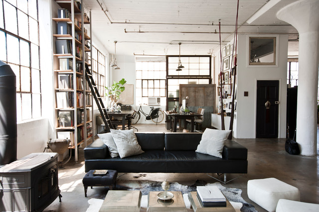 30 Ways To Create A Trendy Industrial Dining Room: 19 Urban Living Room Design Ideas In Industrial Style