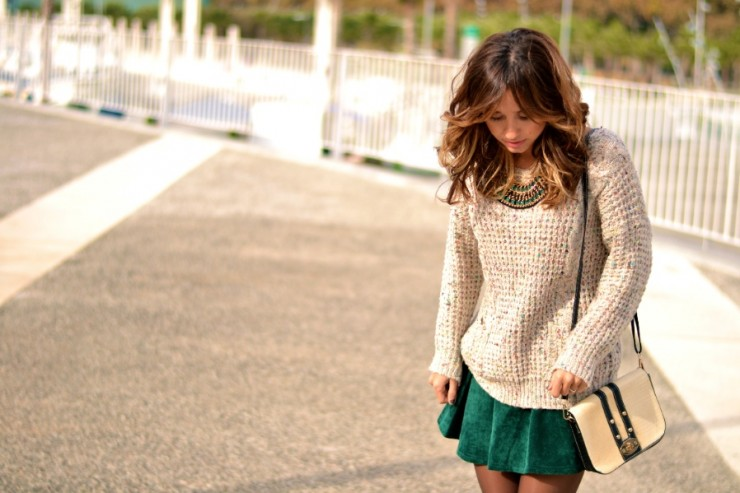 22 Chic Sweater and Skirt Street Style Combinations for Fall - sweater outfits, skirt outfit, skirt and sweater outfit, skirt and sweater combinations, skirt and sweater, fall trend, fall outfit ideas, fall fashion