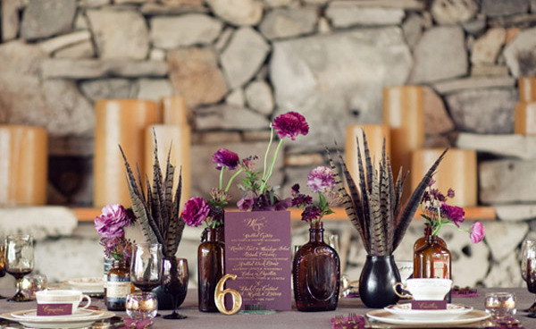 20 Romantic Decor Ideas for Fall Themed Wedding  (20)