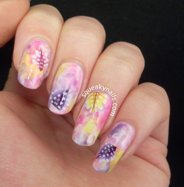 18 Super Cute and Simple Feather Nail Art Ideas